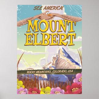 Mount Elbert, Colorado USA travel poster