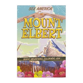 Mount Elbert, Colorado USA travel poster Acrylic Wall Art