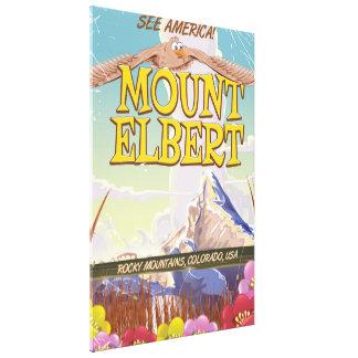 Mount Elbert, Colorado USA travel poster Canvas Print