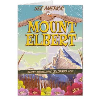 Mount Elbert, Colorado USA travel poster Card