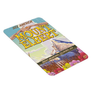 Mount Elbert, Colorado USA travel poster Rectangular Photo Magnet