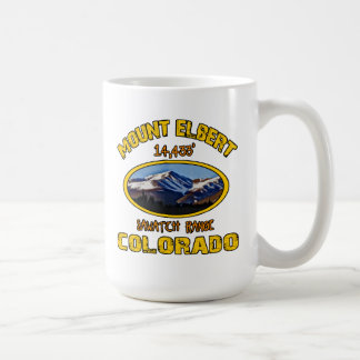 Mount Elbert Classic White Coffee Mug