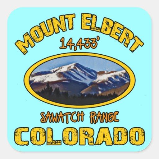 Mount Elbert Square Sticker