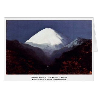 Mount Elbrus, The Moonlit Night Card