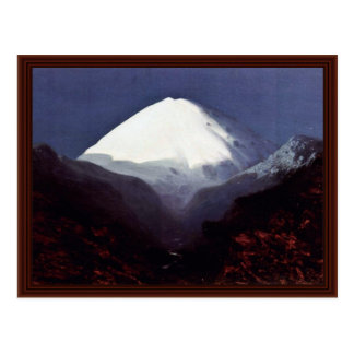 Mount Elbrus, The Moonlit Night Postcard