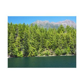 Mount Elinor and Lake Cushman Canvas Print