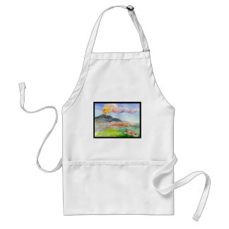 Mount Etna Adult Apron
