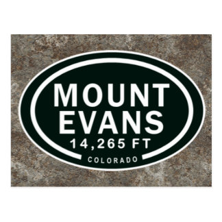 Mount Evans 14,265 FT CO Mountain Postcard