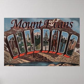 Mount Evans, Colorado - Large Letter Scenes Poster