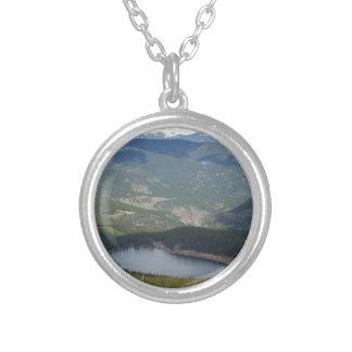 Mount Evans, Colorado Silver Plated Necklace