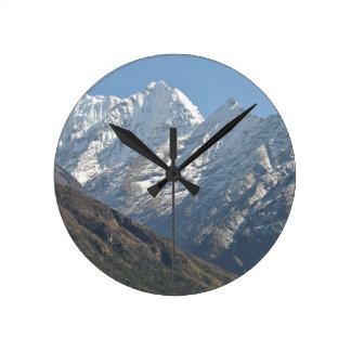 Mount Everest 3 Round Clock