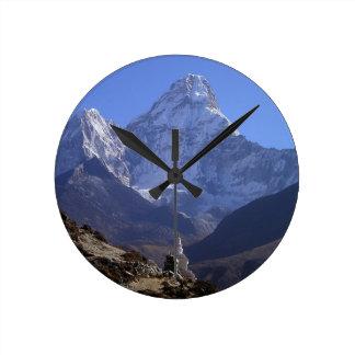 Mount Everest 4 Round Clock