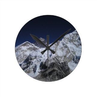 Mount Everest 5 Round Clock