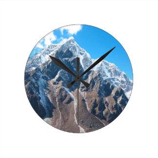 Mount Everest 7 Round Clock