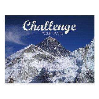 Mount Everest Challenge Your Limits Postcard