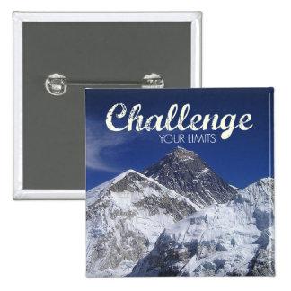 Mount Everest Challenge Your Limits Postcard Button