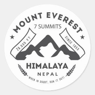 Mount Everest Classic Round Sticker