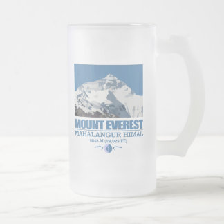 Mount Everest Frosted Glass Beer Mug