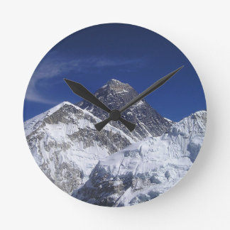 mount Everest Himalaya abstract mountains Round Clock