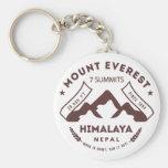 Mount Everest Nepal Basic Round Button Keychain