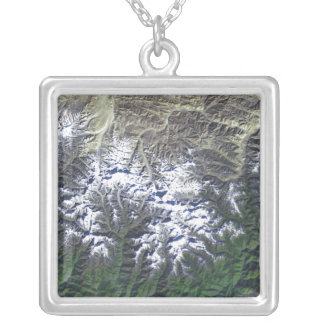 Mount Everest Silver Plated Necklace