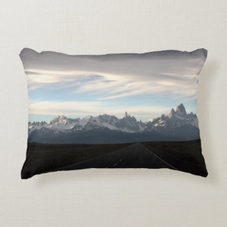 Mount Fitz Roy And Andes Range Accent Pillow