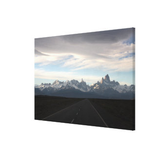 Mount Fitz Roy And Andes Range Canvas Print
