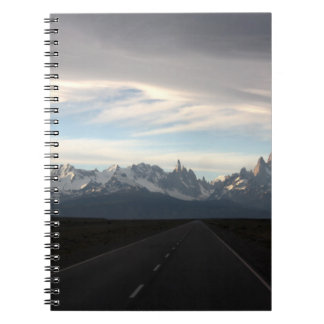 Mount Fitz Roy And Andes Range Spiral Notebook