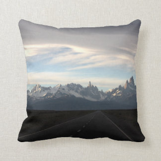 Mount Fitz Roy And Andes Range Throw Pillow