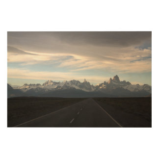 Mount Fitz Roy And Andes Range Wood Wall Decor