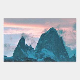 Mount Fitz Roy, Patagonia, Argentina at dusk Rectangular Sticker