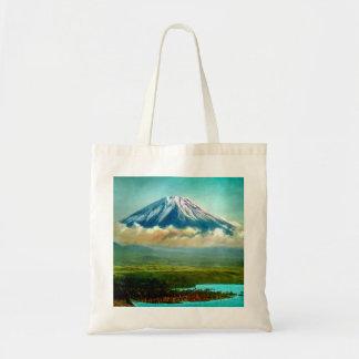 Mount Fuj beyond Lake Motos Vintage Japan 富士山 Tote Bag