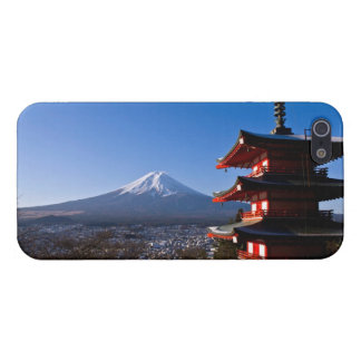 Mount Fuji and red pagoda iPhone SE/5/5s Cover