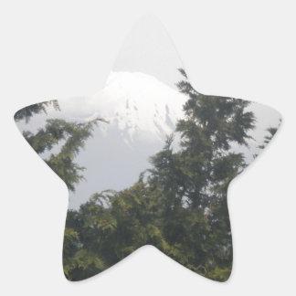Mount Fuji from Hokane Star Stickers