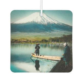 Mount Fuji from Lake Yamanaka 富士 Vintage Car Air Freshener