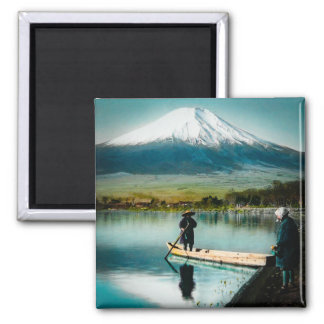 Mount Fuji from Lake Yamanaka 富士 Vintage Magnet