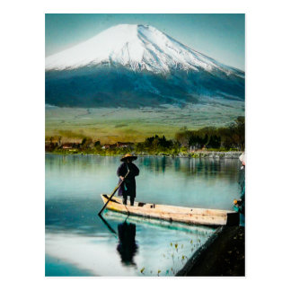 Mount Fuji from Lake Yamanaka 富士 Vintage Postcard