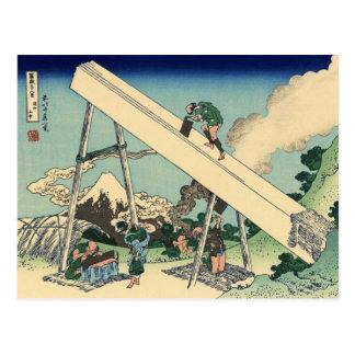 Mount Fuji from the mountains of Tōtō (Hokusai) Postcard