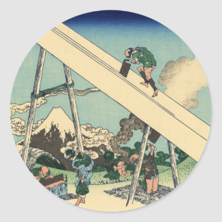 Mount Fuji from the Mountains of Tōtōmi Classic Round Sticker