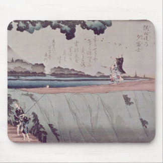 Mount Fuji from the Sumida River embankment Mouse Pad