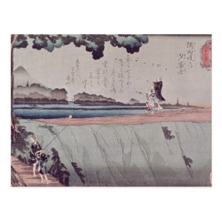 Mount Fuji from the Sumida River embankment Postcard