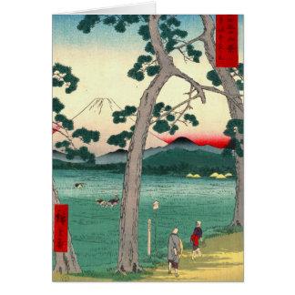 Mount Fuji from Tokaido Road 1858 Card