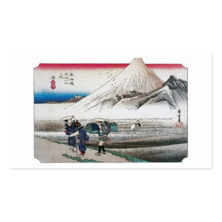 Mount Fuji in the Morning from Hara, Japan. Business Card Template