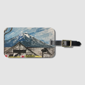 Mount Fuji Japan Luggage Tag with Card Holder