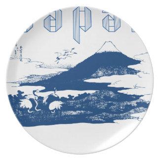 Mount Fuji Japan Plate