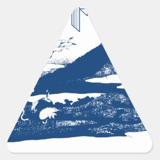 Mount Fuji Japan Triangle Sticker
