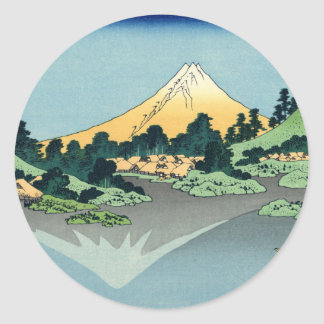 Mount Fuji Reflected in Lake Kawaguchi Classic Round Sticker