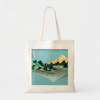 Mount Fuji reflects Canvas Bags