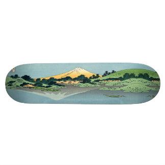 Mount Fuji reflects Skateboard Deck