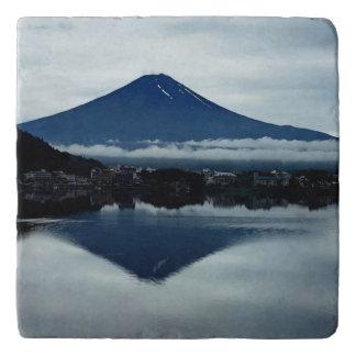 Mount Fuji San, Japan Marble Stone Trivet